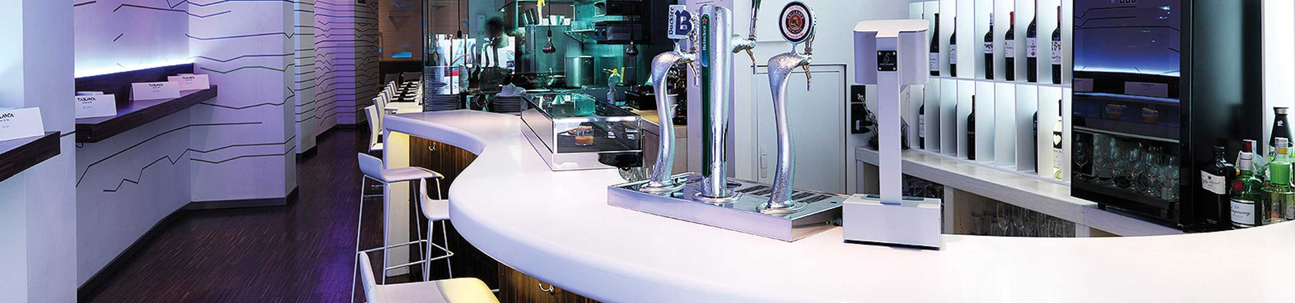 solid surface bar top