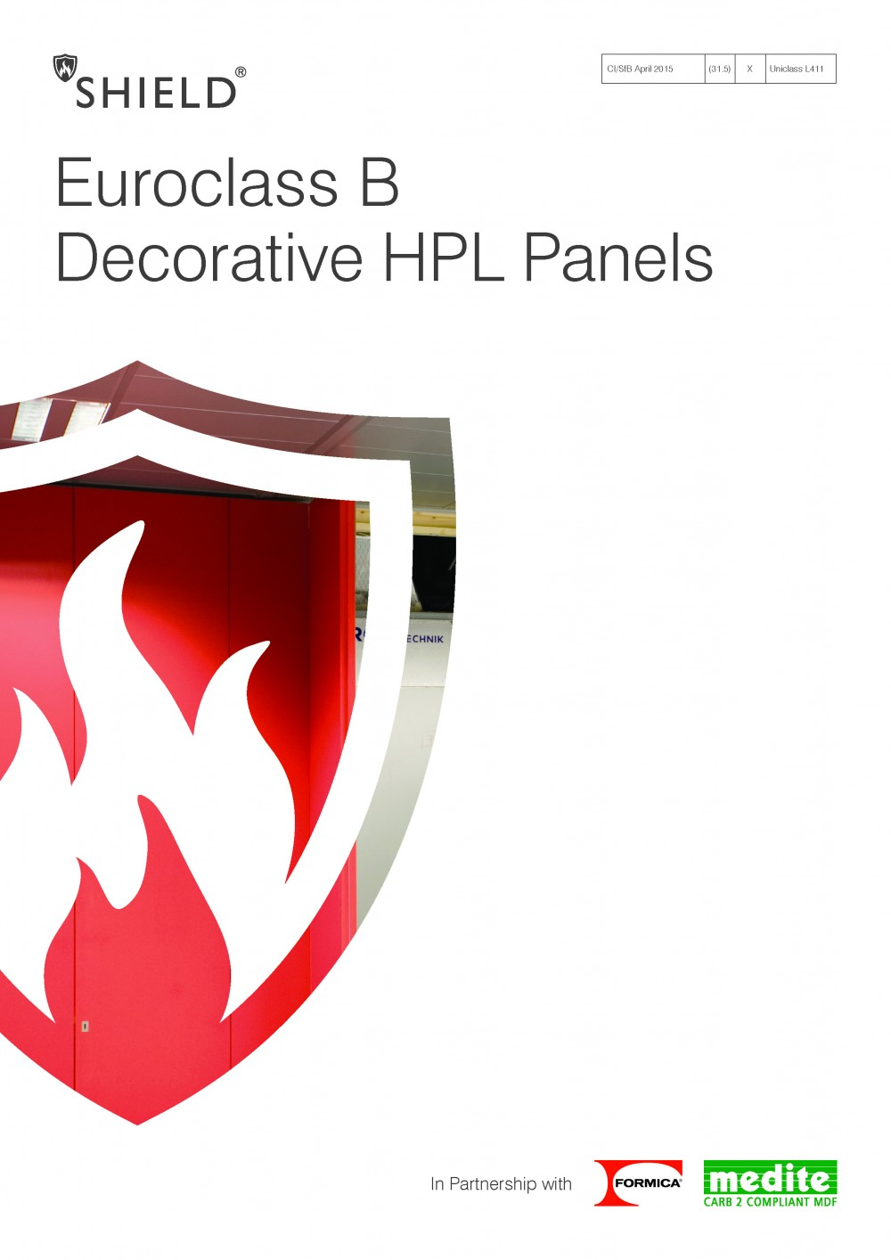 Euroclass B decorative HPL panel