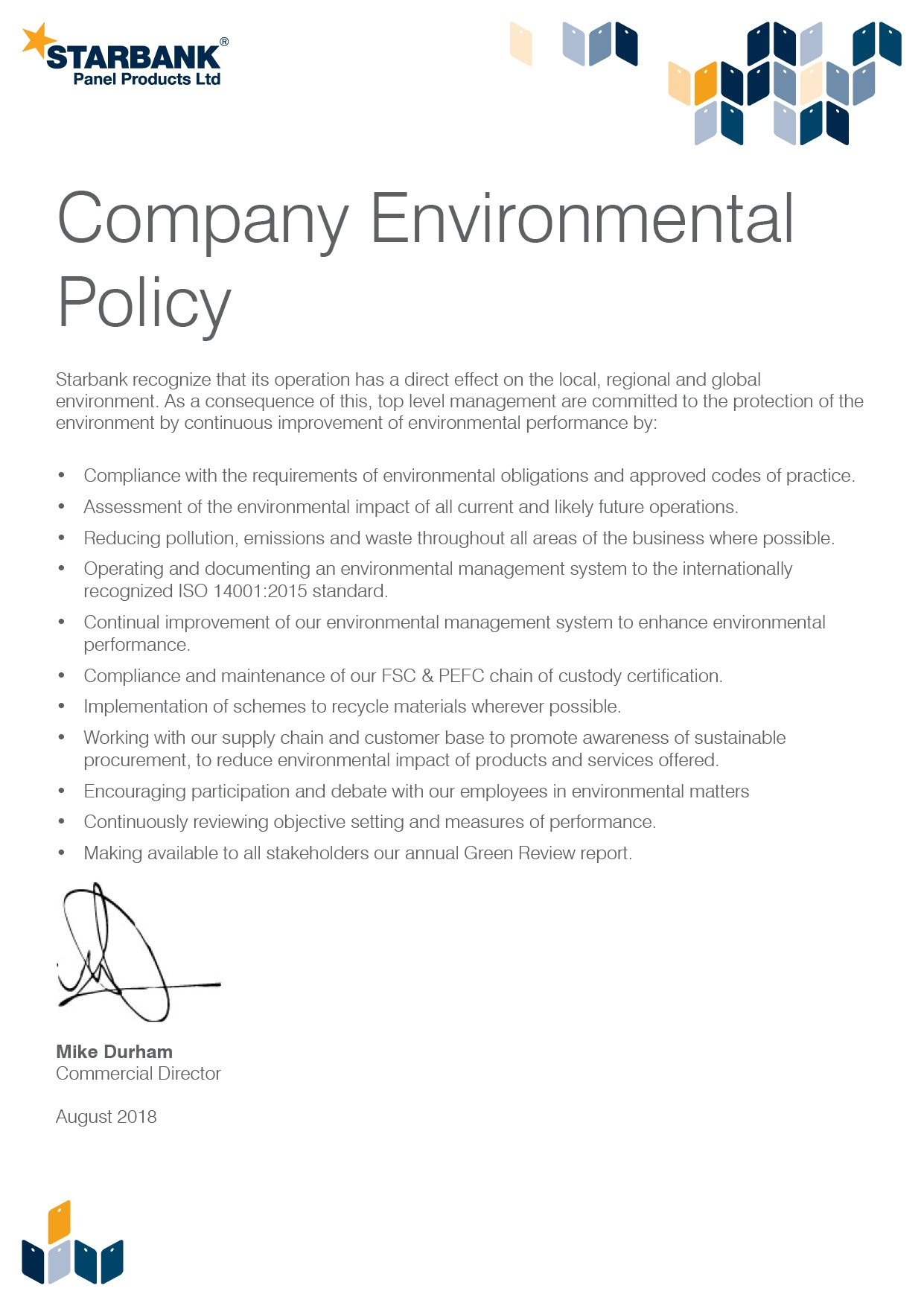 Starbank Environmental Policy